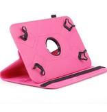Case2go Universele 8 inch tablet hoes - 360 graden draaibaar - Magenta