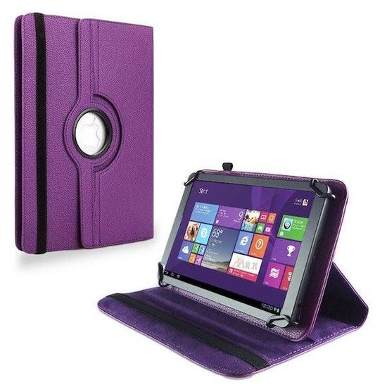 Case2go 9 inch tablet hoes 360 graden draaibaar Paars