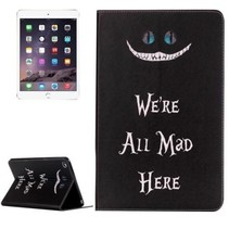 iPad Mini 4 Book Case met We're All Mad Here