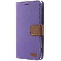 Samsung Galaxy J1 2016  Simply Life Wallet Case Paars