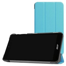 Acer Iconia One 7 B1-780 Tri-Fold Book Case Licht Blauw