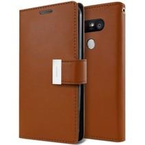 LG G5 Rich Diary Wallet Case Bruin