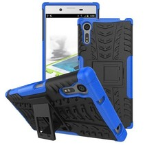 Schokbestendige Back Cover voor Sony Xperia XZ - Blauw