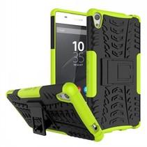 Schokbestendige Back Cover voor Sony Xperia XA Ultra - Groen