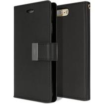 iPhone 7 Plus / iPhone 8 Plus - Rich Diary Wallet Case Zwart
