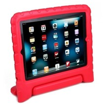 Schokbestendige hoes met handvat - iPad 2,3 en 4 - Rood