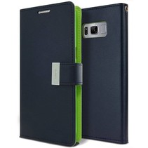 Samsung Galaxy S8 Plus Rich Diary Wallet Case Donker blauw