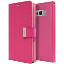 Samsung Galaxy S8 Plus Rich Diary Wallet Case Magenta