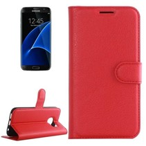 Samsung Galaxy S7 Edge - Litchi Wallet Case - Rood