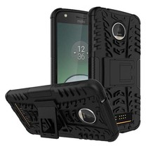 Motorola Moto Z - Schokbestendige Back Cover Zwart