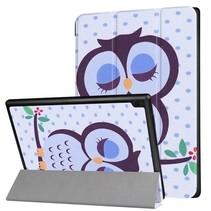 Lenovo Tab 4 10 - Tri-Fold Book Case met een Uil