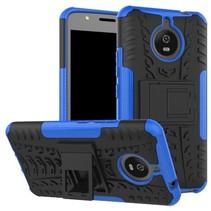 Motorola Moto E Plus 4th gen Schokbestendige Back Cover Blauw