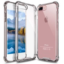 iPhone 7 / iPhone 8 Shock Absorption TPU Cover - Grijs