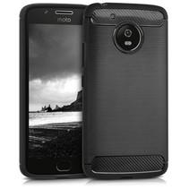 Geborstelde TPU Cover - Motorola Moto G5 - Zwart