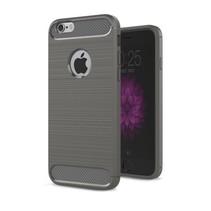 Geborstelde TPU Cover - iPhone 6 / 6S - Grijs