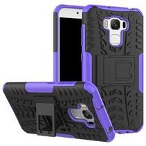 Asus Zenfone 3 Max 5.5 ZC553KL - Schokbestendige Back Cover Paars