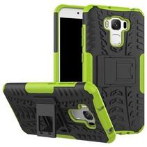 Asus Zenfone 3 Max 5.5 ZC553KL - Schokbestendige Back Cover Groen