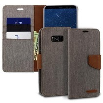 Mercury Canvas Diary Wallet Case - Samsung Galaxy S8 Plus - Grijs
