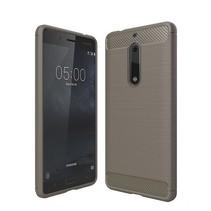 Geborstelde TPU Cover - Nokia 5 - Grijs