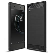 Geborstelde TPU Cover voor Sony Xperia XA1 Ultra - Zwart