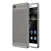 Geborstelde TPU Cover - Huawei P8 - Grijs