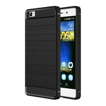 Geborstelde TPU Cover - Huawei P8 Lite - Zwart