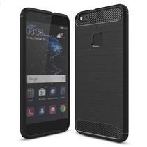 Geborstelde TPU Cover - Huawei P10 Lite - Zwart
