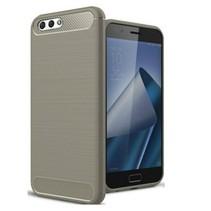 Geborstelde TPU Cover - Asus Zenfone 4 Max 5.2 ZC520KL - Grijs