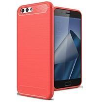 Geborstelde TPU Cover - Asus Zenfone 4 Max 5.2 ZC520KL - Rood