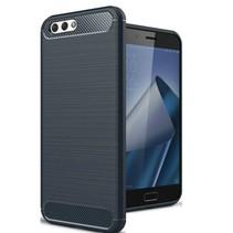 Geborstelde TPU Cover - Asus Zenfone 4 Max Pro 5.5 ZC554KL - Blauw