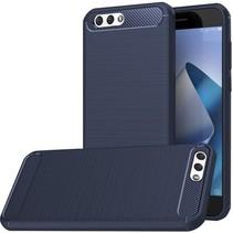 Geborstelde TPU Cover - Asus Zenfone 4 5.5 ZE554KL - Blauw