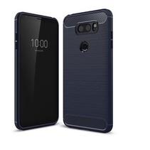 Geborstelde TPU Cover - LG V30 - Blauw