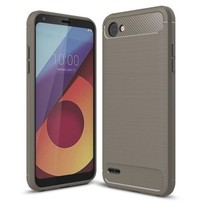 Geborstelde TPU Cover - LG Q6 - Grijs
