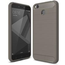 Geborstelde TPU Cover - Xiaomi Redmi 4 4X - Grijs