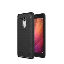 Geborstelde TPU Cover - Xiaomi Redmi Note 4 / Note 4X Pro - Zwart
