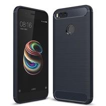 Geborstelde TPU Cover - Xiaomi Mi A1 - Blauw