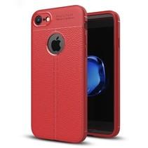 Litchi TPU Case - iPhone 7 / iPhone 8 - Rood