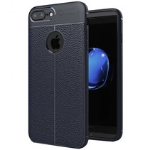 Litchi TPU Case - iPhone 7 Plus / iPhone 8 Plus - Blauw