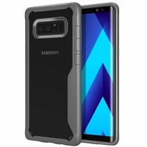 Samsung Galaxy Note 8 - Soft TPU Bumper Case - Grijs / Transparant