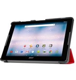 Case2go Acer Iconia One 10 B3-A30 Tri-Fold Book Case Rood