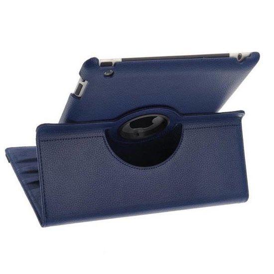 Case2go 360 graden draaibare hoes voor de Ipad 2/3/4 - Donker Blauw