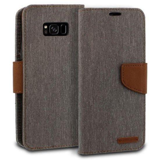 Mercury Mercury Canvas Diary Wallet Case - Samsung Galaxy S8 Plus - Grijs
