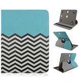 Case2go 360 graden draaibare 8 inch tablet hoes - Blauw
