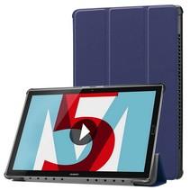 Huawei MediaPad M5 10.8 inch - Tri-fold Book Case - Donker Blauw