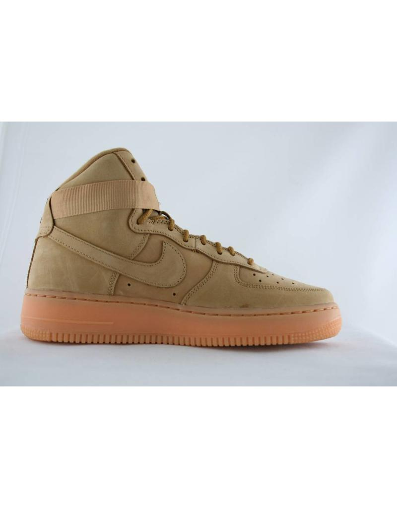 J NIKE AIR FORCE 1 HIGH WB (GS) Flax/Flax-Outdoor Green-Gum Lght Brn