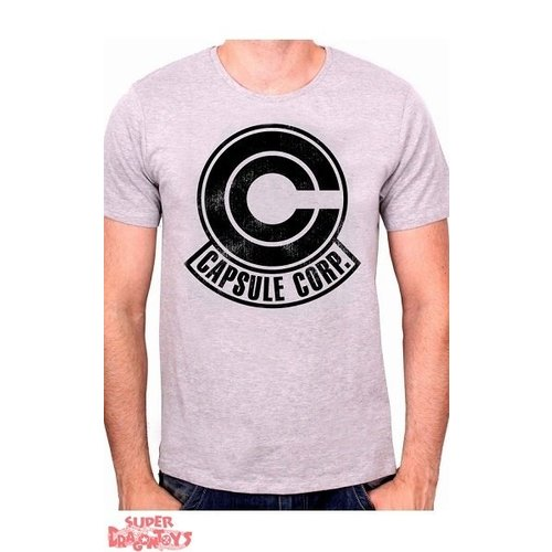 """ABYSSE CORP. DRAGON BALL - T-SHIRT """"CAPSULE CORP LOGO"""""""