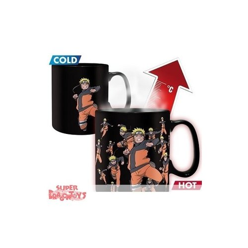 "ABYSSE CORP. NARUTO SHIPPUDEN - MUG MAGIQUE THERMO REACTIF ""NARUTO MULTICLONAGE"""