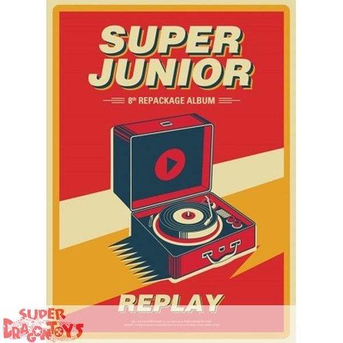 SUPER JUNIOR, REPLAY, CD, KPOP, REPACKAGE ALBUM