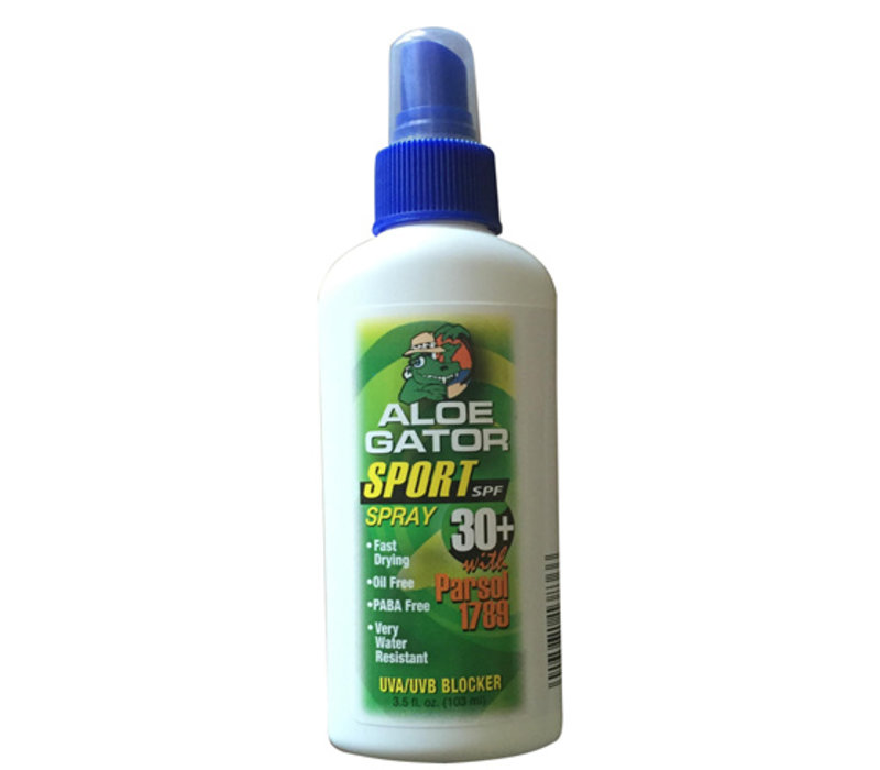 Aloe Gator SPF 30+ Sport Quick Dry Spray