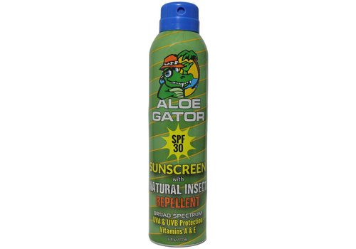 Aloe Gator Aloe Gator SPF 30 with Natural Insect Repellent Continuous Spray